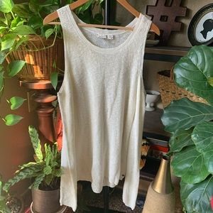 Roxy cold shoulder sweater top.